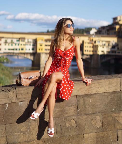 Vestido Alcinha Poa Vermelho - La Ventrina - Look do dia - lookdodia.com