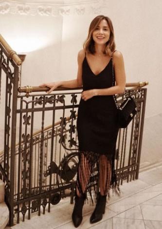 Vestido Vania Franjas Fillity usado por Luisa Accorsi - Look do dia - lookdodia.com