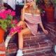 37-Vestido Rosa Tricot Marli Ombro Fillity - Look do dia