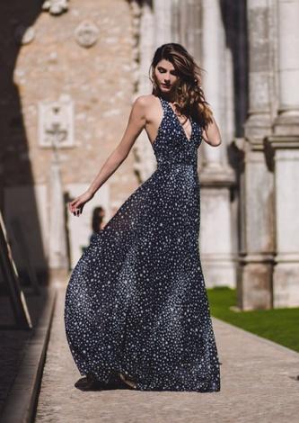 Vestido Longo Estrela Amss Tugore - Look do dia - lookdodia.com