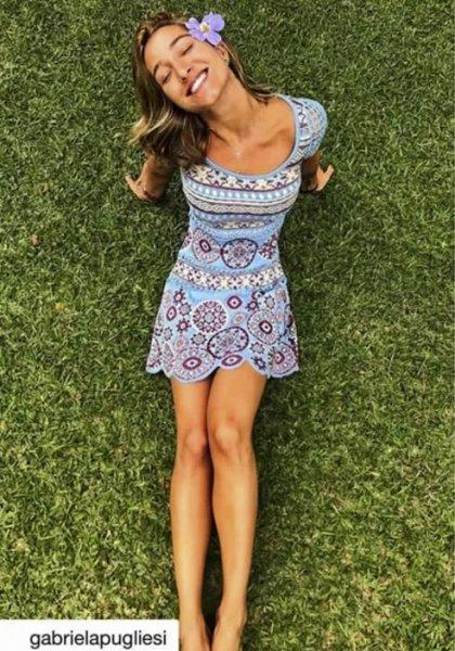 Gabriela Publiesi veste Vestido Tricot Mandala Doce de Coco - Look do dia - lookdodia.com