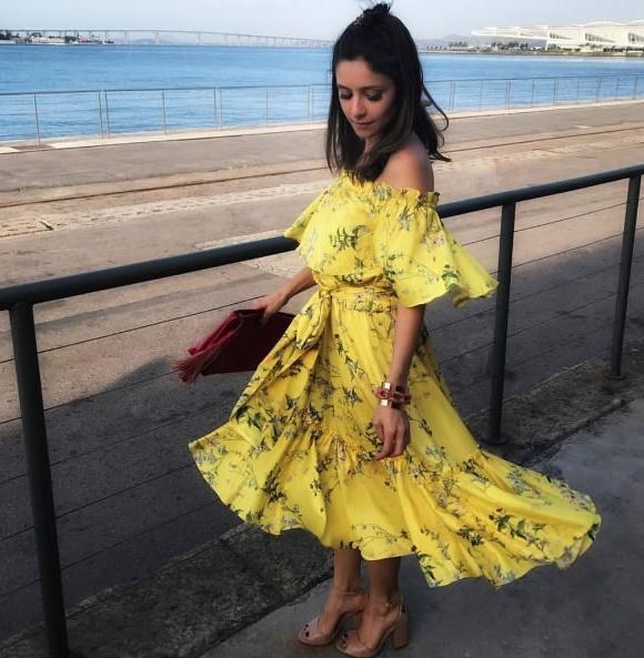 Vestido Cetim Floral Bele Amissima - Look do dia - lookdodia.com