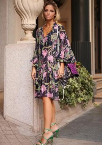 Vestido Hibisco Floral Tigstore - Look do dia - lookdodia.com