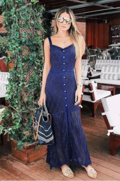 Thassia Naves veste Galeria Tricot - Vestido Tricot Linda Azul - Look do dia - lookdodia.com-02