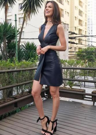 Vestido de Couro Tainara DressCo - Look do dia - lookdodia.com