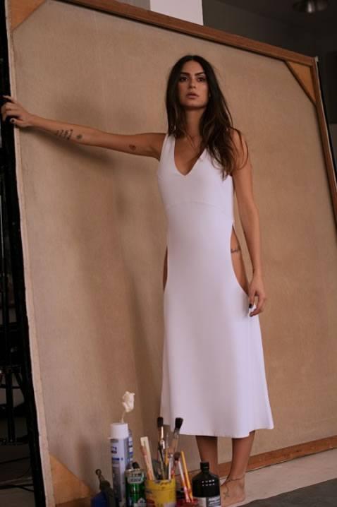 Thaila Ayala veste T.Ishida Vestido Naru Branco - Look do dia - lookdodia.com