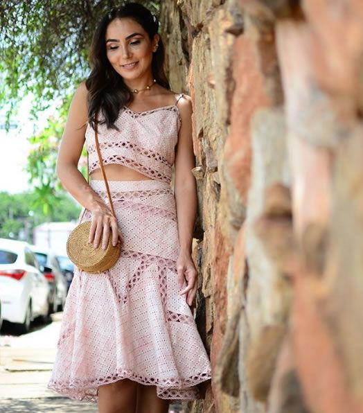 Lala Noleto veste Loft747 Conjunto Barbara Blush - Look do dia - lookdodia.com