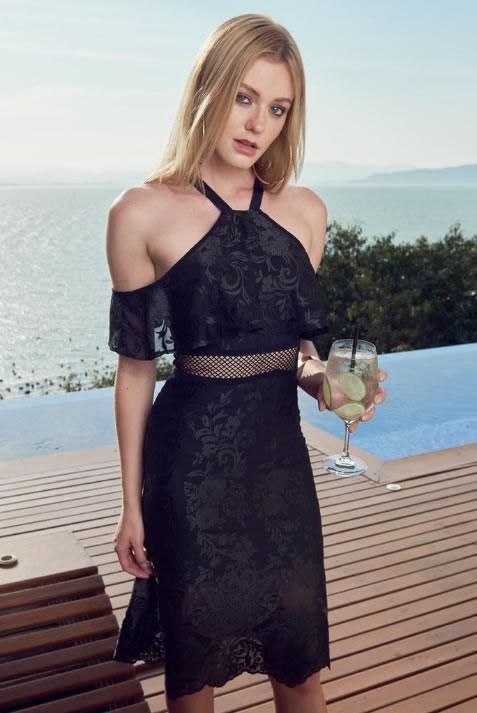 Look do dia Vestido Black Floral - Colcci - lookdodia.com