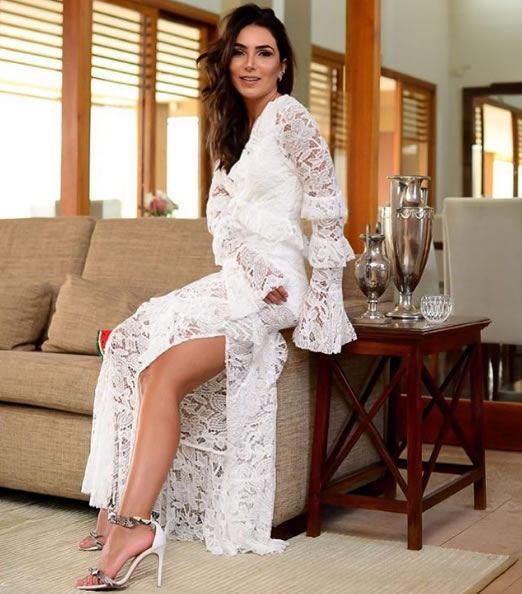 Lala Noleto veste Iorane Vestido Helena Branco - Look do dia - lookdodia.com