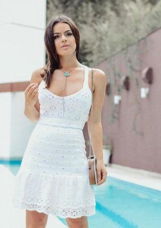 Cecilia Kraemer veste Doce de Coco Vestido Renda Lasie - Look do dia - lookdodia.com