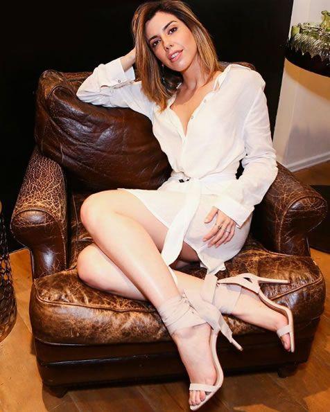 Camila Coutnho veste Le Lis Blanc Camisão Linho Helena - Look do dia - lookdodia.com
