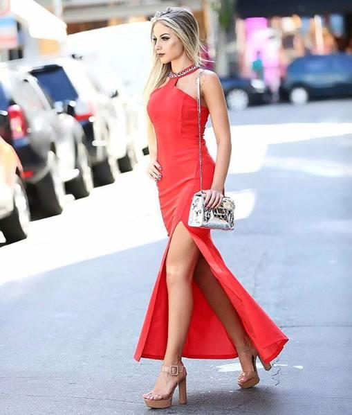 Leticia Longati veste Dressus Vestido Longo Vermelho - Look do dia - lookdodia.com
