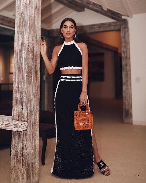 Camila Coelho veste Doce de Coco Saia Tricot Renda - Look do dia - lookdodia.com