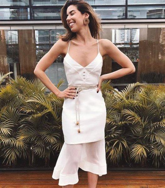 Camila Coutinho veste Maria Filo Vestido Midi Corda Gode - Look do dia - lookdodia.com