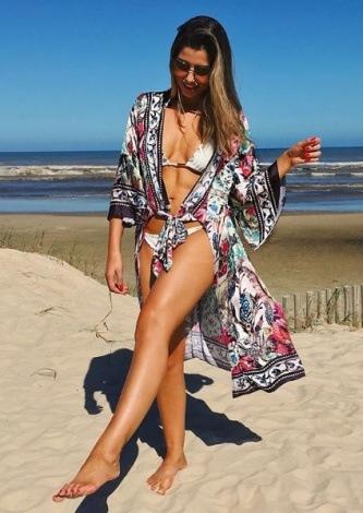 Paula Feijo veste Ton Age Resort Dress Etnic - Look do dia - lookdodia.com