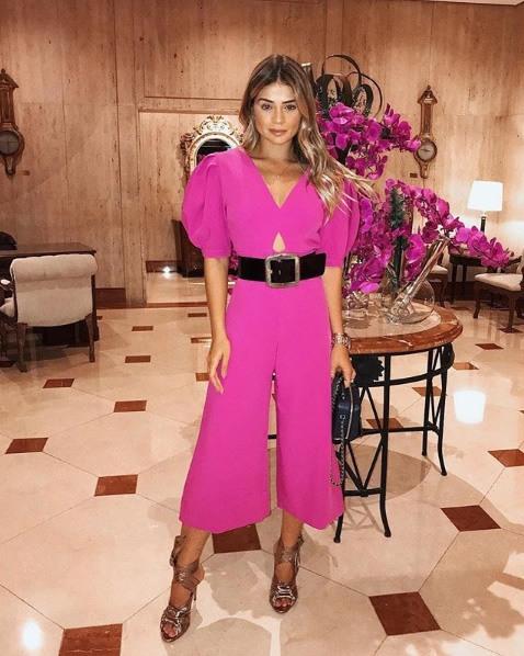 Thassia Naves veste Iorane Macacao Pantacourt Pink - Lookdodia - lookdodia.com