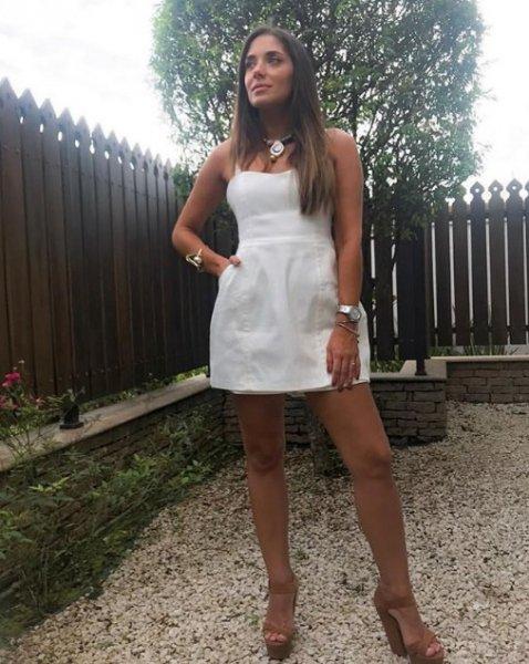Veridiana Françoso veste ByNV Macaquinho Luisa Offwhite - Look do dia - lookdodia.com
