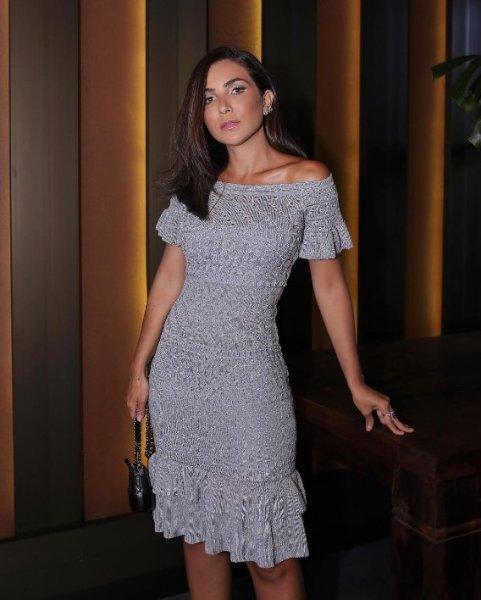 Lala Noleto veste Doce de Coco Vestido Renda Midi - Look do dia - lookdodia.com