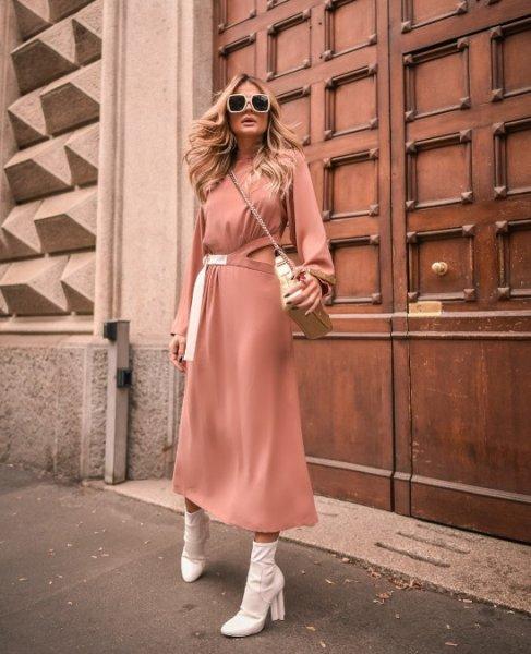 Thassia Naves veste Skazi Vestido Midi Crepe - Look do dia - lookdodia.com