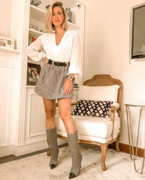 Nati Vozza veste ByNV Saia Sabrina Mescla - Look do dia - lookdodia.com