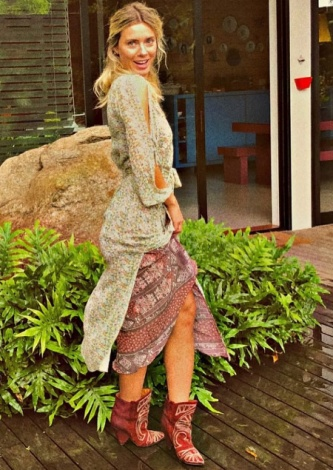 Carolina Dieckmann veste ATEEN Vestido Petrus Lurex - Look do dia - lookdodia.com