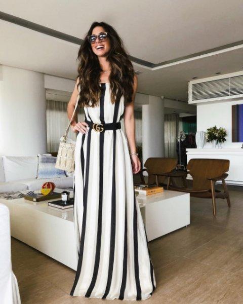 Luiza Sobral veste Canal Concept: Vestido Chiffon Listrado - Lookdodia
