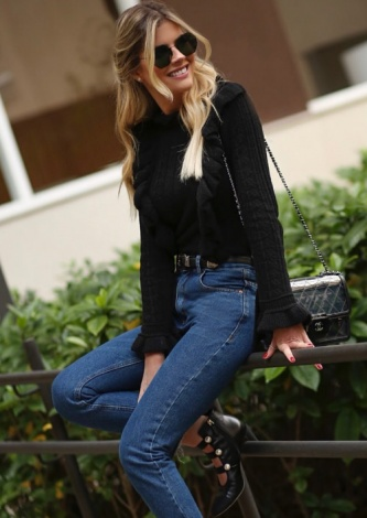 Lala Rudge veste John John Calça jeans skinny Berlim - Look do dia - lookdodia.com