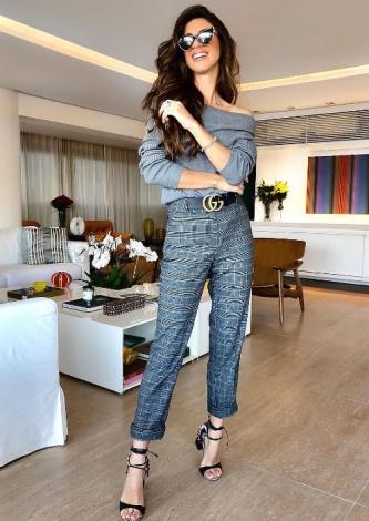 Luiza Sobral veste Fillity - Calça Príncipe de Gales Xadrez - Lookdodia - lookdodia.com