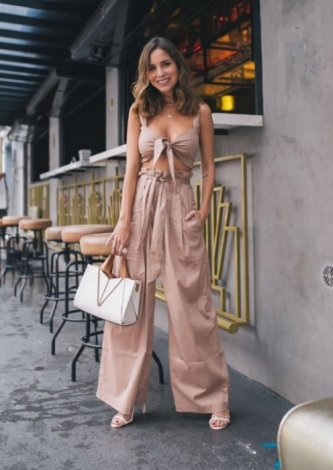 Calça Pantalona Nude - Look do dia - Luisa Accorsi