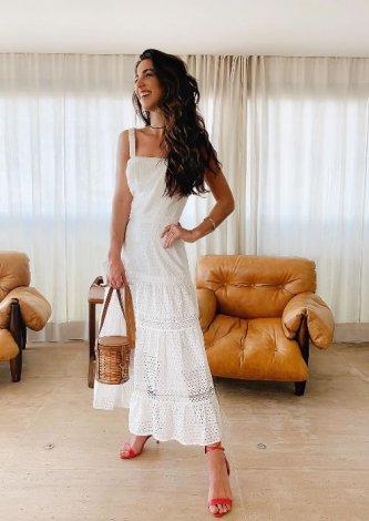 Vestido Midi Laise Alejandra — Look do dia: Luiza Sobral