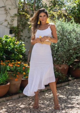 Vestido Minervina — Look do dia: Thassia Naves